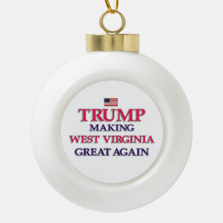 Trump West  Virginia Great Ceramic Ball Christmas Ornament
