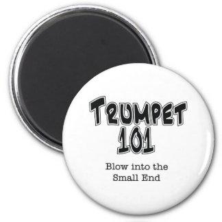 Trumpet 101 6 cm round magnet
