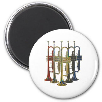 Trumpet 6 Cm Round Magnet