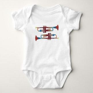 Trumpet Art Baby Bodysuit