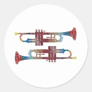 Trumpet Art Classic Round Sticker