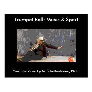 Trumpet Ball: Music & Sport Postcard 10