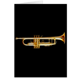 Trumpet Brass Horn Wind Musical Instrument Card