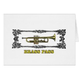 trumpet brass pass card