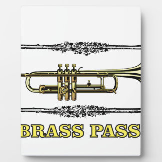 trumpet brass pass display plaque
