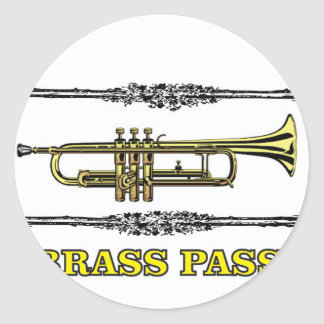 trumpet brass pass round sticker
