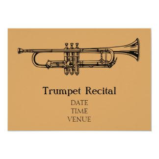 Trumpet Brass Recital jazz stylish performance 13 Cm X 18 Cm Invitation Card
