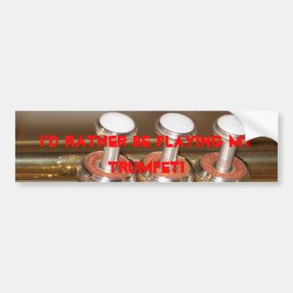 Trumpet bumper sticker