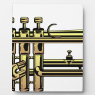 Trumpet Cartoon Plaque