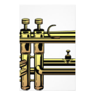 Trumpet Cartoon Stationery