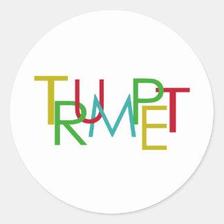 Trumpet Classic Round Sticker