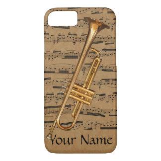 Trumpet Custom Musical Notes iPhone 8/7 Case