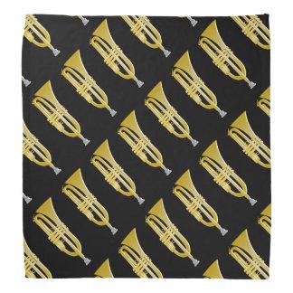 Trumpet Design Black Bandanas