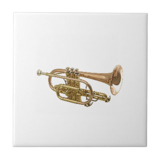 """Trumpet"" design gifts and products Small Square Tile"