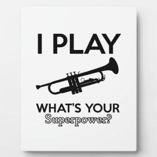 trumpet designs plaque