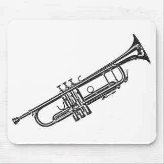 "Trumpet ""Drawing"" Mouse Pad"