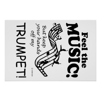 Trumpet Feel The Music Poster