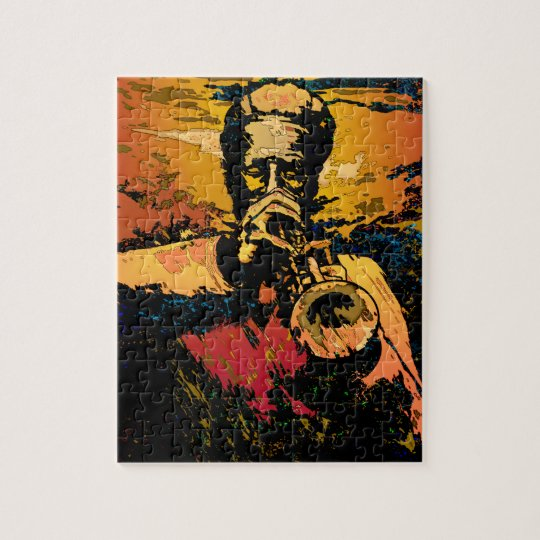 Trumpet Fire Jigsaw Puzzle