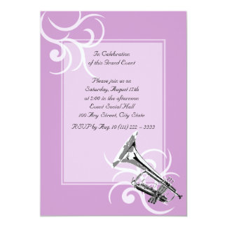 Trumpet Full Color 13 Cm X 18 Cm Invitation Card