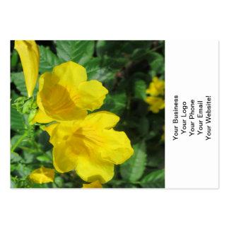 Trumpet Garden Flower Yellow Business Card