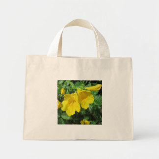 Trumpet Garden Flower Yellow Canvas Bag