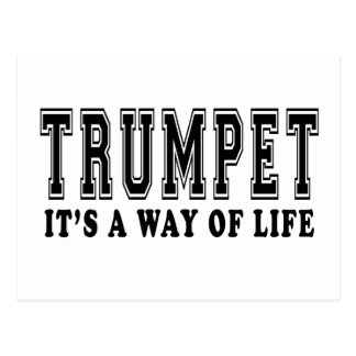Trumpet It's way of life Postcard