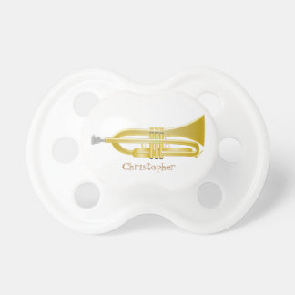 Trumpet Just Add Name Baby Pacifiers