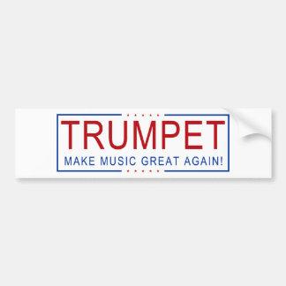 TRUMPET - Make Music Great Again! Bumper Sticker