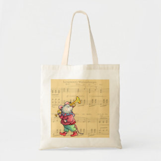 Trumpet Mouse on Sheet Music - Bag