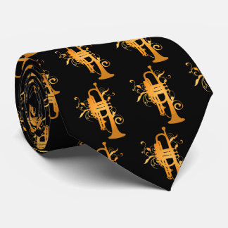 Trumpet Music Band Musician Gift neck tie