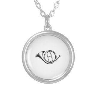 Trumpet & Music Love Silver Plated Necklace