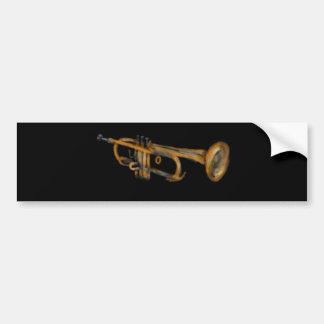 Trumpet Musician Artwork Bumper Sticker