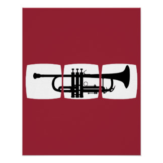 Trumpet Musician T-shirt for trumpeter Print