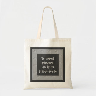 trumpet musicians budget tote bag