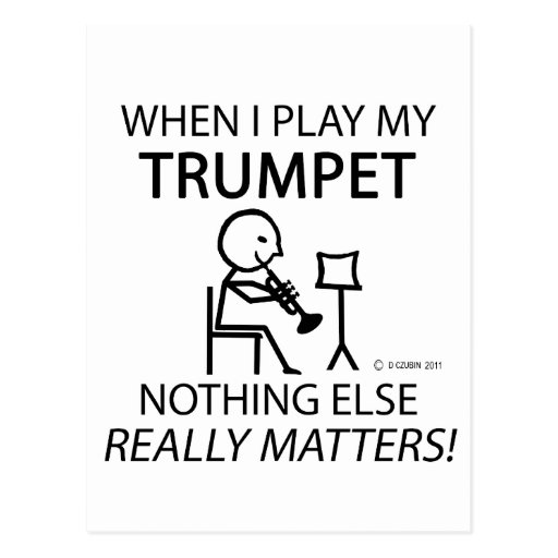 Trumpet Nothing Else Matters Post Cards