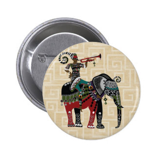 Trumpet Player 6 Cm Round Badge