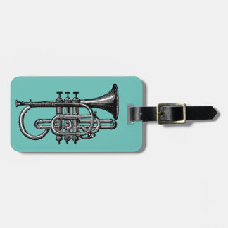 Trumpet Player Bag Tag
