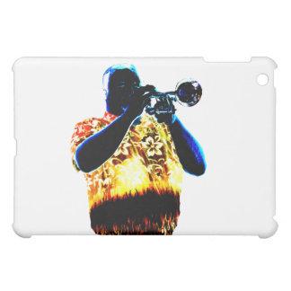 Trumpet Player Blues Orange Red shirt iPad Mini Covers
