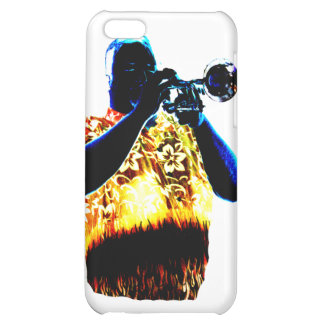 Trumpet Player Blues Orange Red shirt iPhone 5C Cover