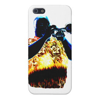 Trumpet Player Blues Orange Red shirt Cover For iPhone 5