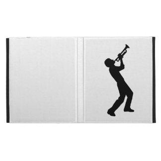 Trumpet player iPad folio cases