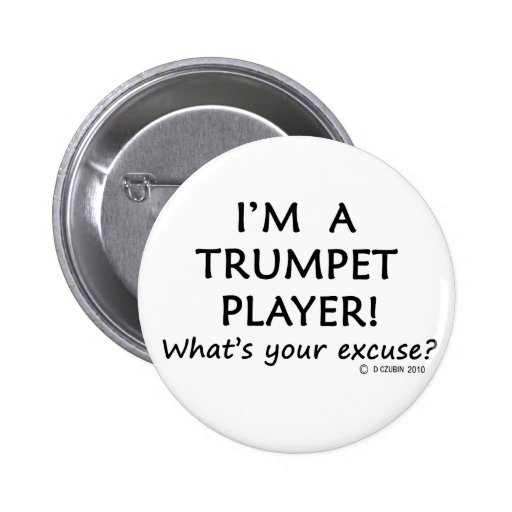 Trumpet Player Excuse Buttons