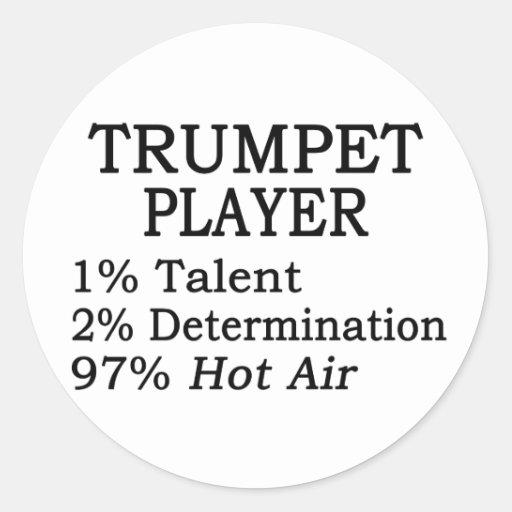Trumpet Player Hot Air Sticker