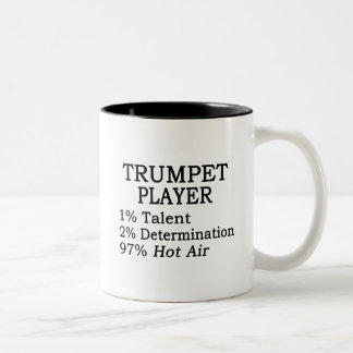 Trumpet Player Hot Air Two-Tone Coffee Mug