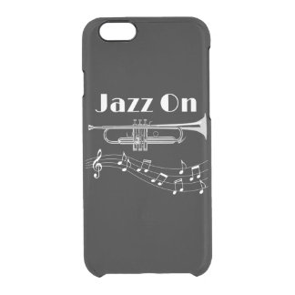 Trumpet Player Jazz On Clear iPhone 6/6S Case