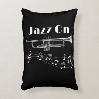 Trumpet Player Jazz On Decorative Cushion