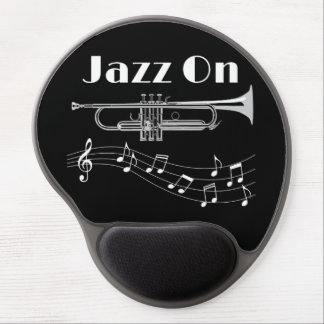 Trumpet Player Jazz On Gel Mouse Pad