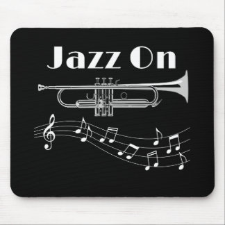 Trumpet Player Jazz On Mouse Pad