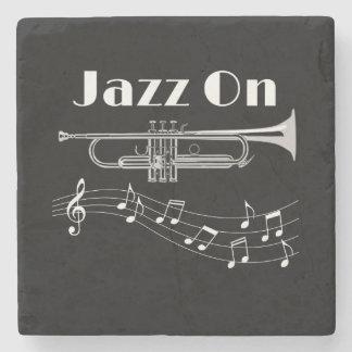 Trumpet Player Jazz On Stone Coaster