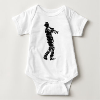 trumpet player larvae OF of notes Baby Bodysuit
